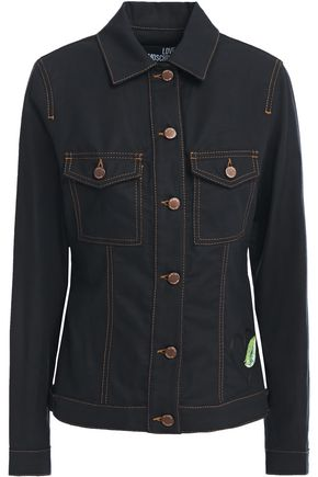 LOVE MOSCHINO Embroidered canvas jacket