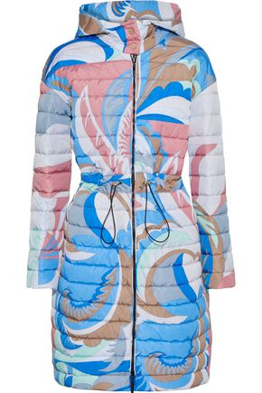 EMILIO PUCCI Reversible printed quilted shell hooded coat