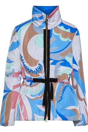 EMILIO PUCCI Grosgrain-trimmed printed shell padded jacket