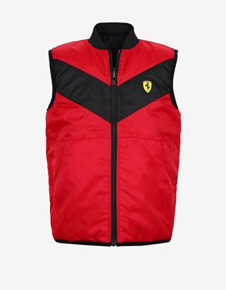 Scuderia Ferrari Online Store - Reversible padded boys' gilet with Thermo Tech system - Vests