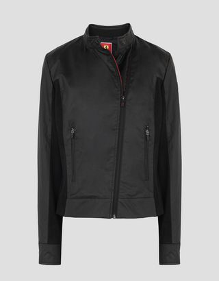 Scuderia Ferrari Online Store - Women's Hybrid Leather Biker Jacket - Biker Jackets