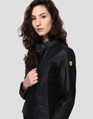 Scuderia Ferrari Online Store - レディース ハイブリッドレザー バイカージャケット - バイカージャケット