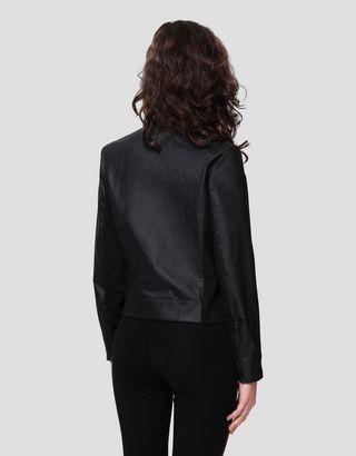 Scuderia Ferrari Online Store - Giacca biker donna in Hybrid Leather - Biker Jackets