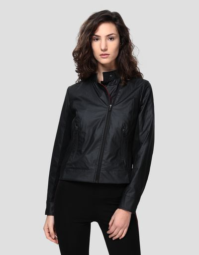 Giacca biker donna in Hybrid Leather