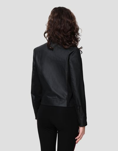 Women's biker jacket in Hybrid Leather