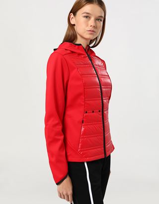 Scuderia Ferrari Online Store - Women's Softshell jacket with Thermo Tech - Bombers & Track Jackets