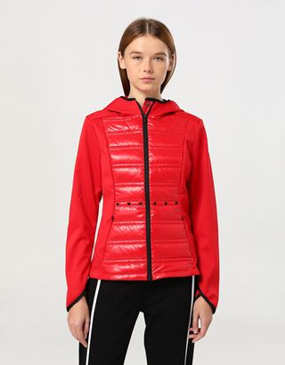 Scuderia Ferrari Online Store - Women's jacket in Softshell with Thermo Tech - Bombers & Track Jackets