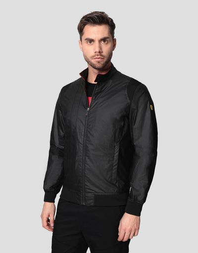 Men's Racing bomber in Hybrid Leather