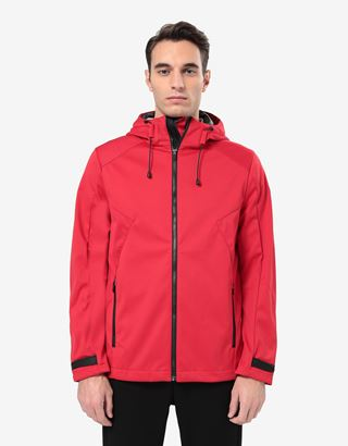 Scuderia Ferrari Online Store - Veste pour homme en Softshell avec système Fit - Bombers et vestes de sport