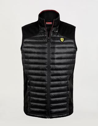 Scuderia Ferrari Online Store - Men's Softshell gilet with Real Down padding - Vests