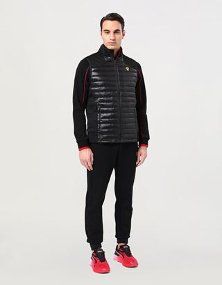 Scuderia Ferrari Online Store - Men's Softshell vest with Real Down lining - Vests
