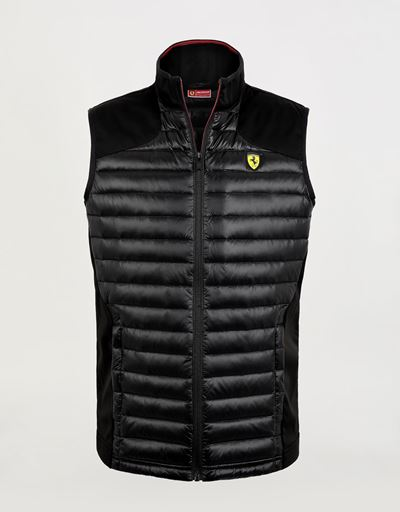 Men's Softshell vest with Real Down lining