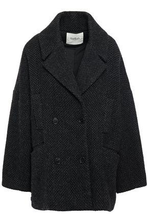 BA&SH Double-breasted brushed felt coat