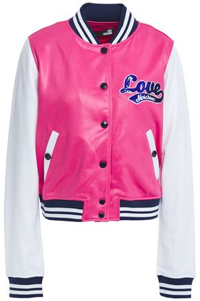 LOVE MOSCHINO Sequin-embellished French terry bomber jacket
