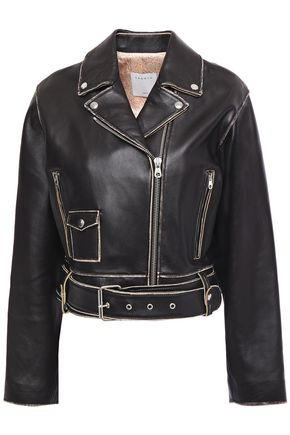 SANDRO Shay leather biker jacket