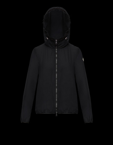 LAIT Black Windbreakers Woman