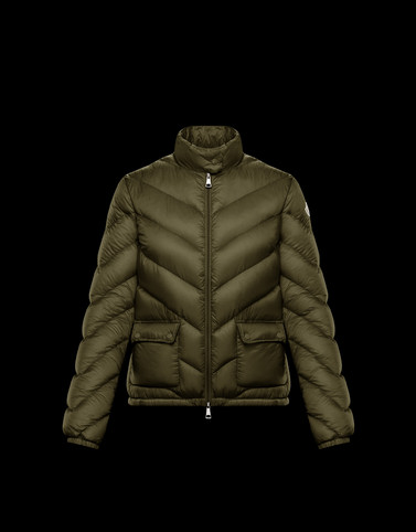 LANX Military green Category Short outerwear Woman