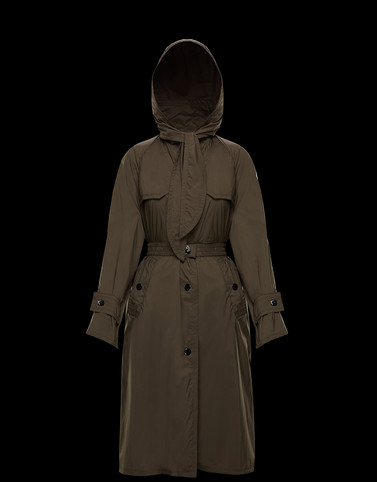 VERMEIL Khaki Coats & Trench Coats Woman