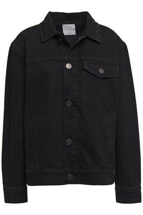 SANDRO Jores embroidered denim jacket