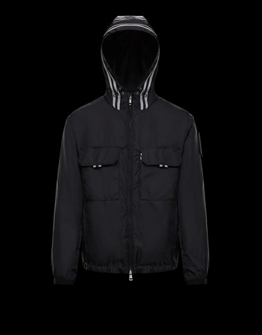 ABBE Black Windbreakers Man