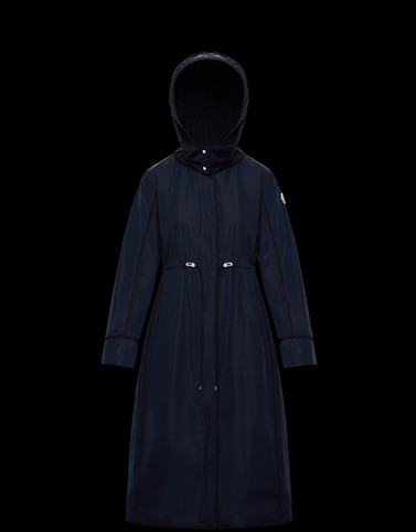 AQUILAIN Dark blue Coats & Trench Coats Woman