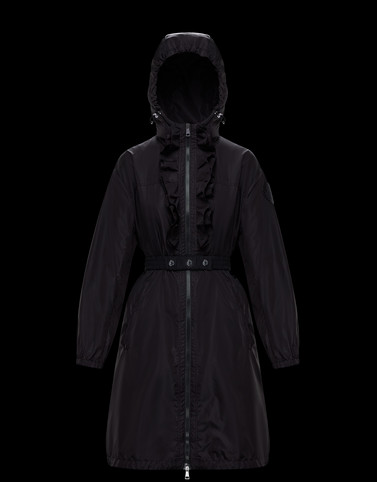 SAUGE Black Coats & Trench Coats Woman