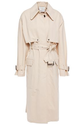 3.1 PHILLIP LIM Convertible belted cotton-blend trench coat