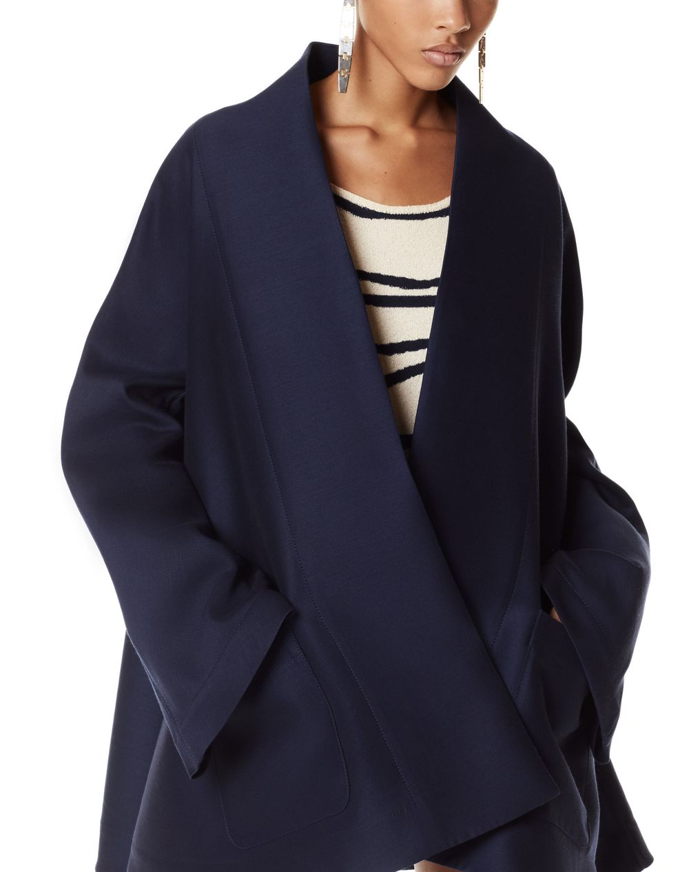 WOOL AND SILK KIMONO JACKET - Lanvin