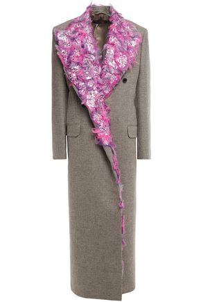Y/PROJECT Embellished Prince of Wales checked wool-blend coat