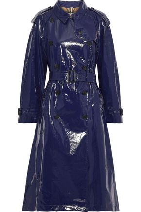 BURBERRY Belted glossed-cotton trench coat