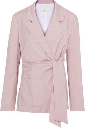 TIBI Wool-blend wrap jacket