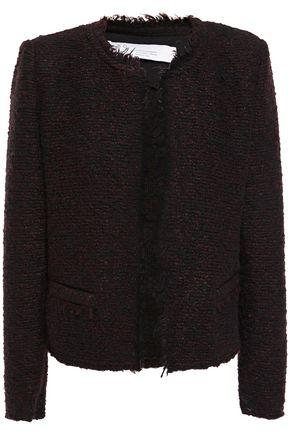 IRO Frayed bouclé-knit jacket