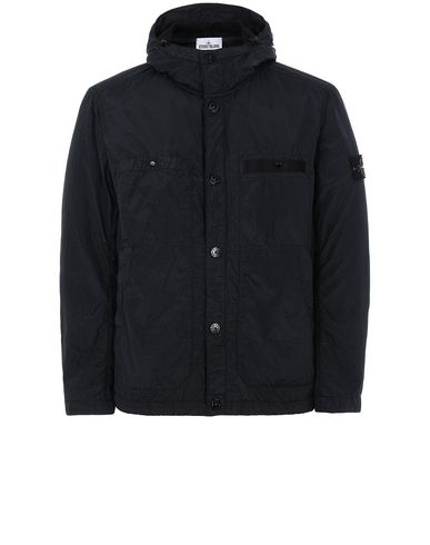 STONE ISLAND 45329 S.I.PA/PL SEERSUCKER-TC Jacket Man Black USD 438