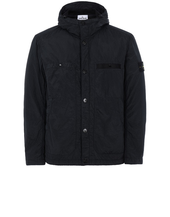 STONE ISLAND 45329 S.I.PA/PL SEERSUCKER-TC Jacket Man Black