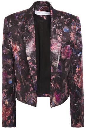 IRO Spreak cropped brocade blazer