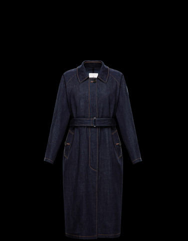 PISTACHE Dark blue Coats & Trench Coats Woman