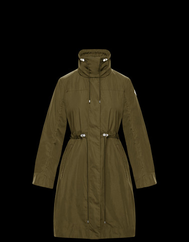 MALACHITE Military green Category Raincoats Woman