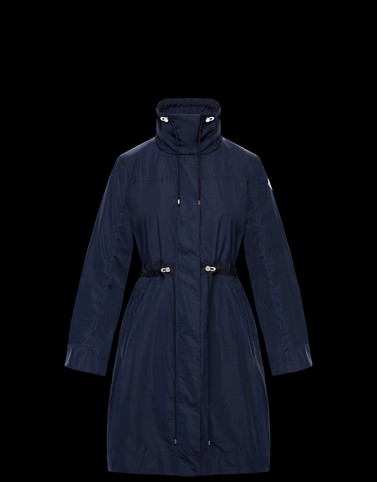MALACHITE Dark blue Coats & Trench Coats Woman