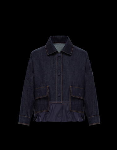 NYMPHE Dark blue Category Overcoats Woman
