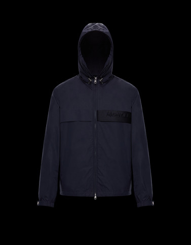 BENOIT Dark blue Windbreakers Man