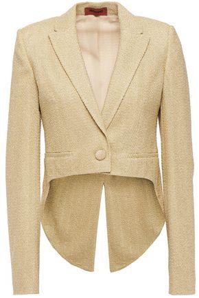 MISSONI Cropped metallic bouclé-knit blazer