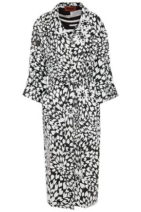 MISSONI Tie-front printed leather trench coat