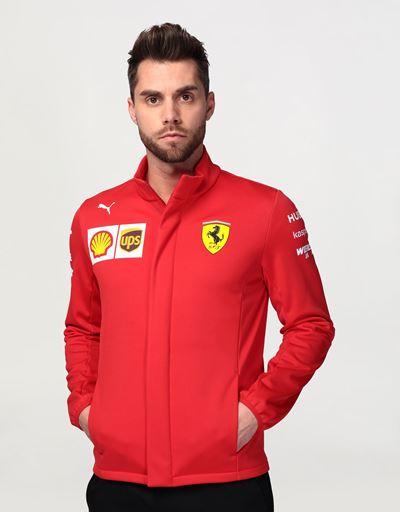 Scuderia Ferrari Online Store - Men's Scuderia Ferrari 2020 Replica team Softshell jacket - Bombers & Track Jackets