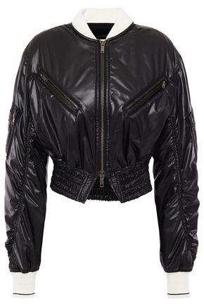 HAIDER ACKERMANN Cropped shirred shell jacket