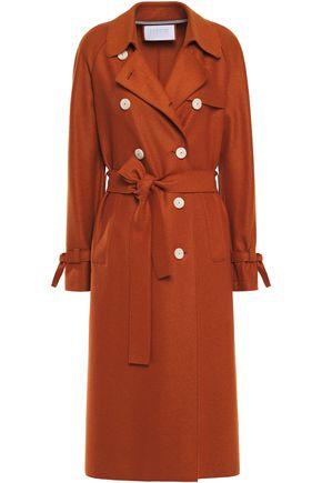 HARRIS WHARF LONDON Belted wool-felt trench coat