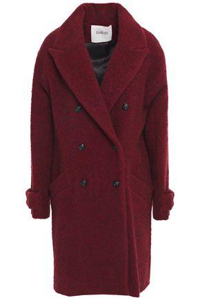 BA&SH معطف مجعد بطريقة بوكليه مع أزرار مزدوجة