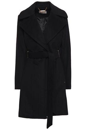 MICHAEL MICHAEL KORS Belted brushed wool-blend felt coat