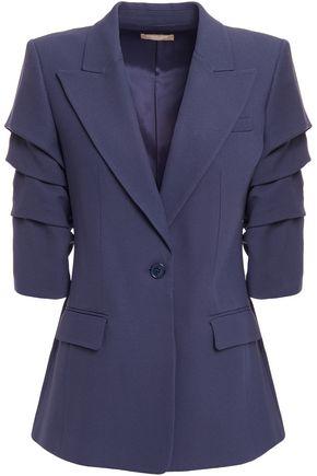 MICHAEL KORS COLLECTION Gathered crepe blazer