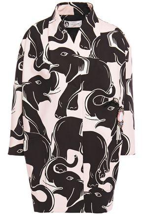 LANVIN Oversized embellished printed cotton-canvas coat