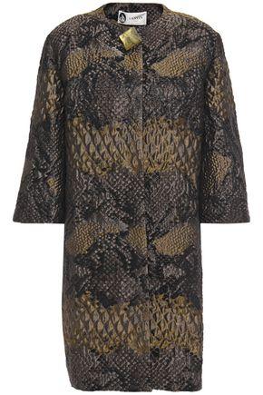 LANVIN Button-embellished snake-print brocade jacket